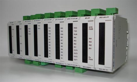 Модули серии DCS-2000, устанавливаемые на DIN-рельс